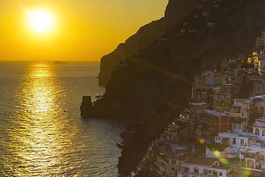Francesco Riccardo  Iacomino - beautiful sunset at Positano