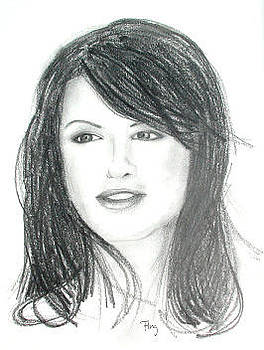 Beautiful Woman - Portrait Drawing by Andrew Fling