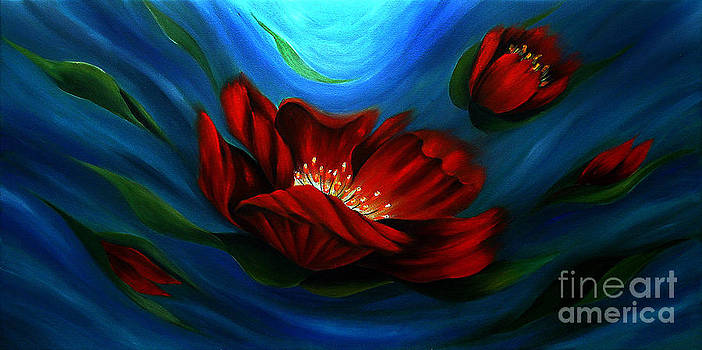 Beauty of Red Flower by Uma Devi