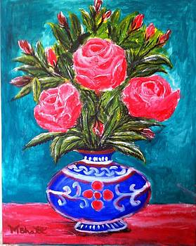 Beauty of Roses and Vase by M Bhatt