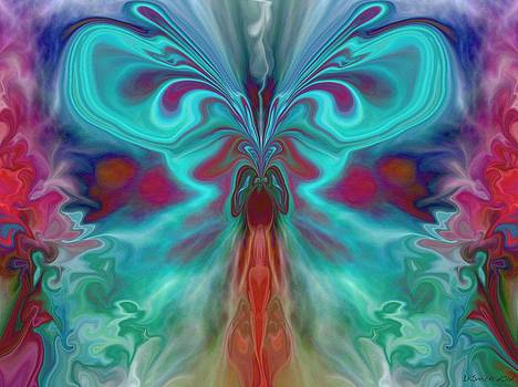 Beauty of the Butterfly 2 - Abstract 37 by Lynda K Cole-Smith