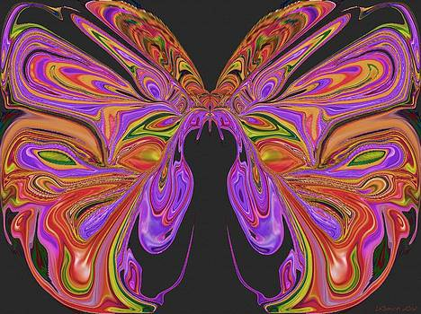 Beauty of the Butterfly 2 - Abstract 64 by Lynda K Cole-Smith