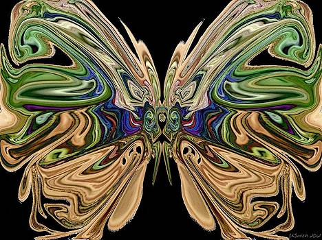 Beauty of the Butterfly 2 - Abstract 70 by Lynda K Cole-Smith