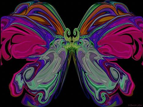 Beauty of the Butterfly 2 - Abstract 74 by Lynda K Cole-Smith