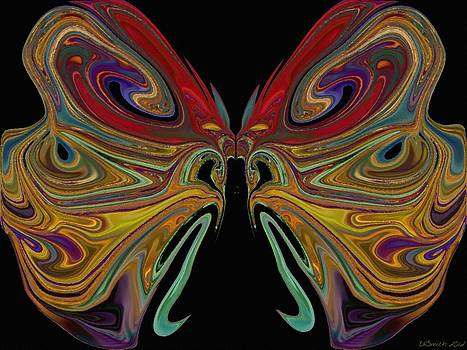 Beauty of the Butterfly 2 - Abstract 82 by Lynda K Cole-Smith