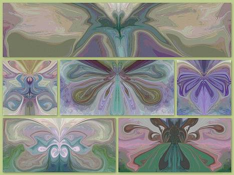 Beauty of the Butterfly 2 - Collage 1 by Lynda K Cole-Smith