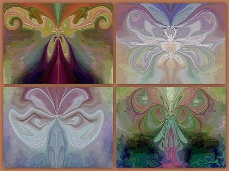 Beauty of the Butterfly 2 - Collage 2 by Lynda K Cole-Smith