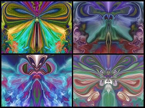Beauty of the Butterfly 2 - Collage 4 by Lynda K Cole-Smith