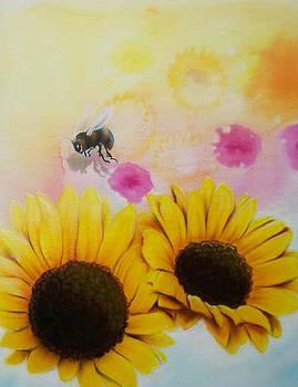 BEEutifull Sun Flowers by Mike Royal
