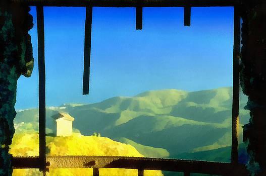 Enrico Pelos - Beigua Landscape from Miniera house