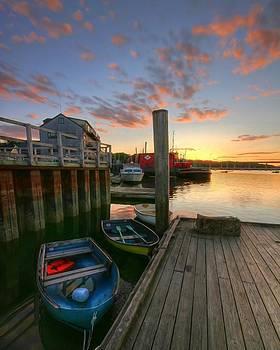 Belfast Harbor Sunset by Kevin Kratka