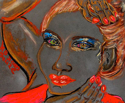 Belize Lady in Red by Kathryn Barry