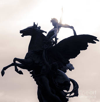 Bellerophon and Pegasus by L E Jimenez