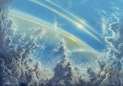Beneath Saturn's Rings by Don Dixon