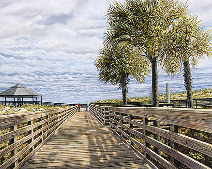 Benny on the boardwalk by Michael Welch
