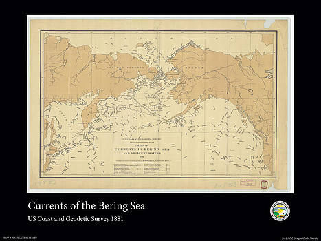 Bering Sea Currents 1881 by Adelaide Images