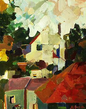 Berkeley Rooftops by Marianne  Gargour