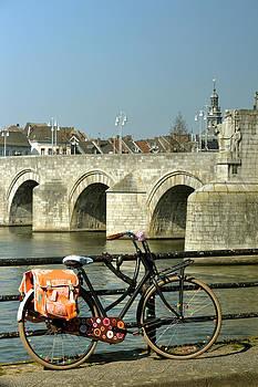 Bicycle by the Maas River in Maastricht by Carol Vanselow
