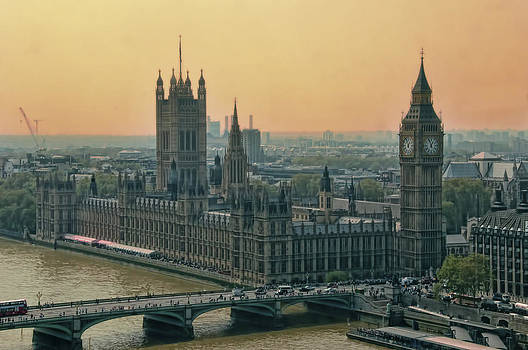 Big Ben from London Eye by Rich Beer