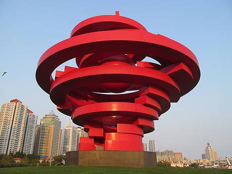 Alfred Ng - big red sculpture