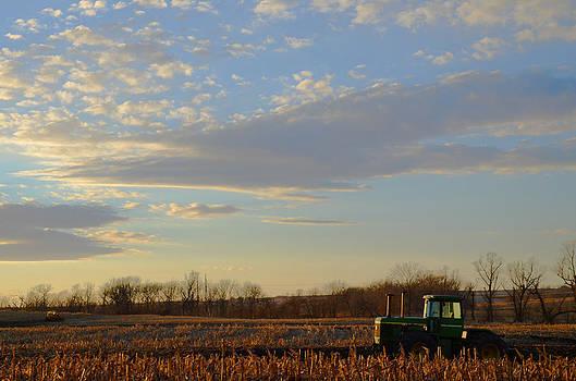 Christine Belt - Big Sky and Tractor at Rest