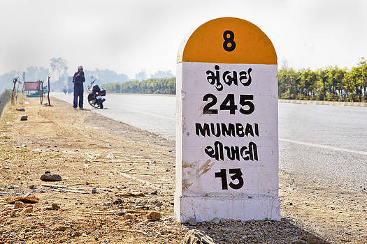 Kantilal Patel - Biker Stop 245 Km to Mumbai