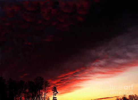 Billowing Cumulus On Fire by Scott Allison