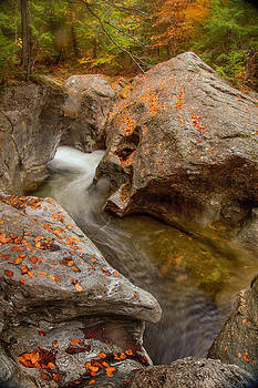 Bingham Falls Stowe Vermont 5953  by Ken Brodeur