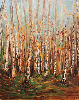Birch Barks by Linda Woolven
