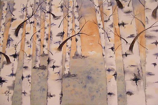 Birches by Carol Bruno
