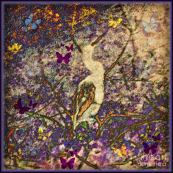 Bird and Butterflies by Leslie Revels