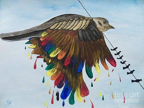 Judy Via-Wolff - Bird on a Wire Flys Free
