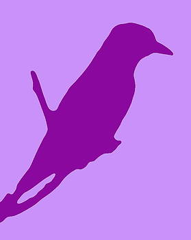 Ramona Johnston - Bird Silhouette Lilac Lavender