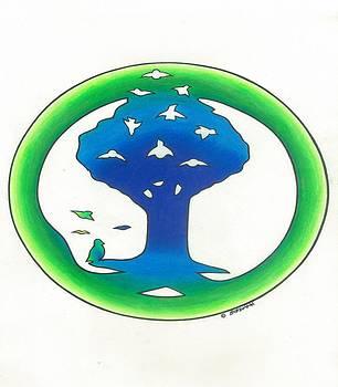 Birdland Creations Logo Blue N Green by Steve Weber