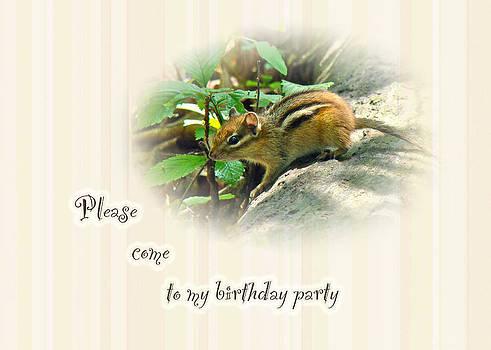 Mother Nature - Birthday Party Invitation - Chipmunk