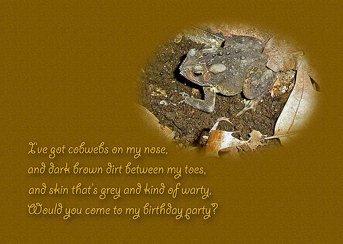 Mother Nature - Birthday Party Invitation - Common Toad - Child