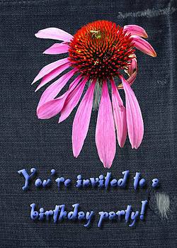 Mother Nature - Birthday Party Invitation - Coneflower