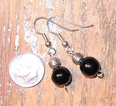 Black and Bali Earring by Elizabeth Carrozza