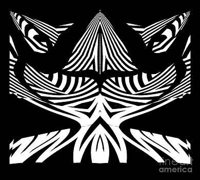 Abstract Black White Art No.306. by Drinka Mercep
