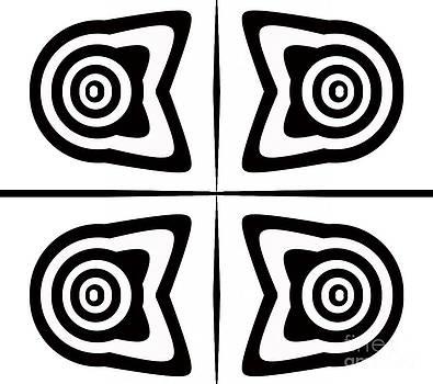 Minimalism Black White Abstract Art No.311. by Drinka Mercep