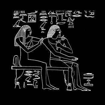 James Hill - Black and White Ancient Egyptian Image
