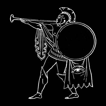 James Hill - Black and White Ancient Greek Warrior