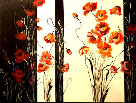 Black and White and Red All Over by Patricia Rachidi