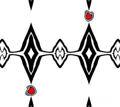 Drinka Mercep - Minimalist Black White Red Art No.72.