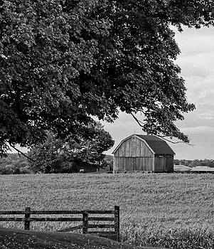Black and White Barn by Timothy Thurman