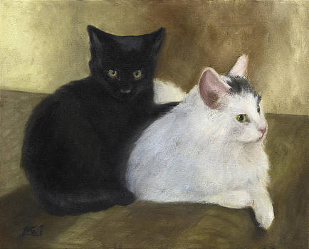 Black and White Cats by Mary Gingrich