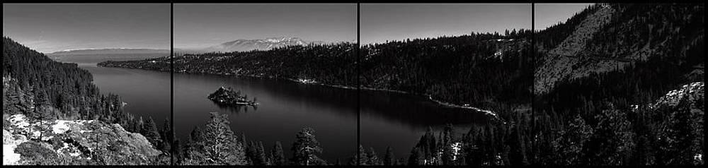 Black and White Emerald Bay Panorama by Brad Scott