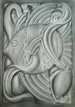 Black and white fish by Paula Ludovino