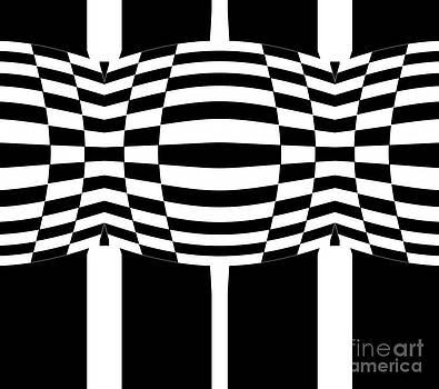 Black and White Geometric Abstract Art No.286. by Drinka Mercep