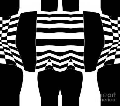 Abstract Black White Geometric Art No.295. by Drinka Mercep
